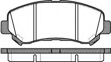 Колодки тормозные передние Nissan Remsa 131800