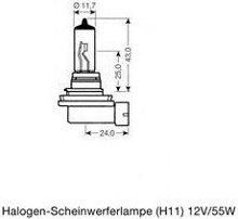 Лампа H11 55W 12V PGJ19-2 Osram 64211